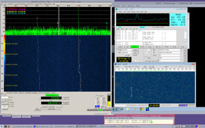 I1NDP left and HB9Q right signals and WSJT