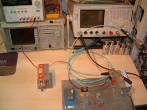 RF Mixer testing, test setup