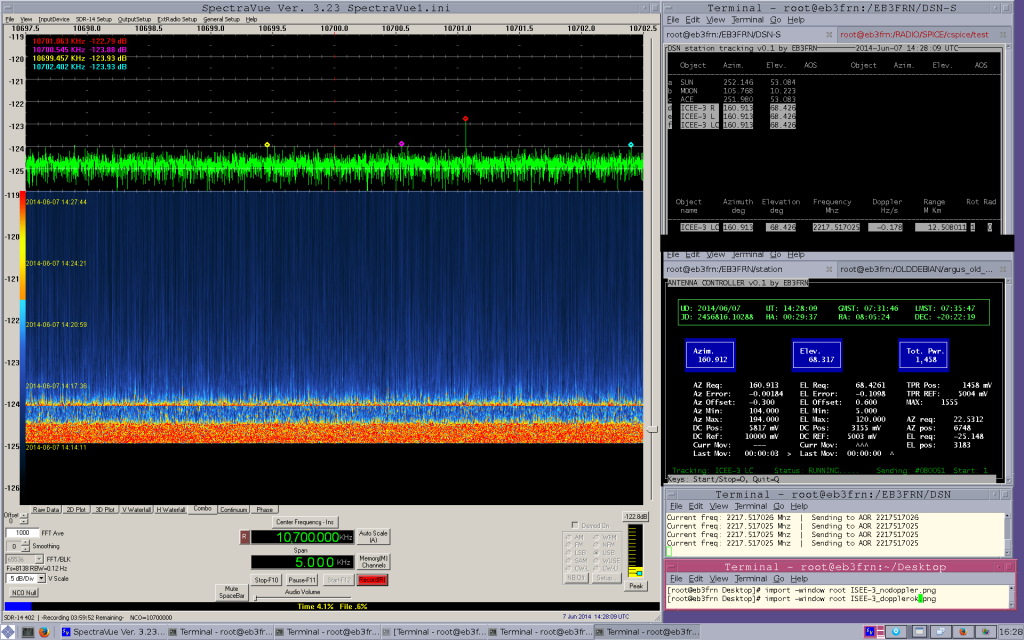 ISEE-3 / ICE with doppler corrected