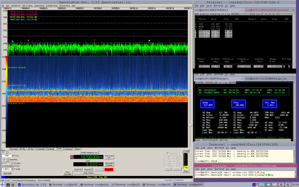 ISEE-3 / ICE no signal without the doppler compensation