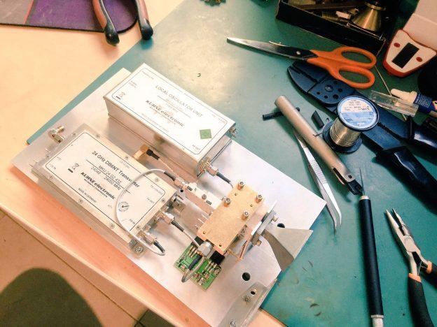 now wiring the 24ghz @kuhneelectronic transverter for hamradio